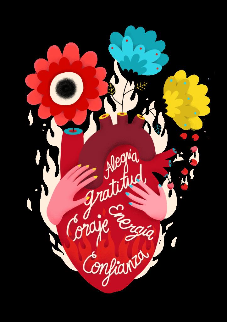 Ilustración-corazón-con-flores