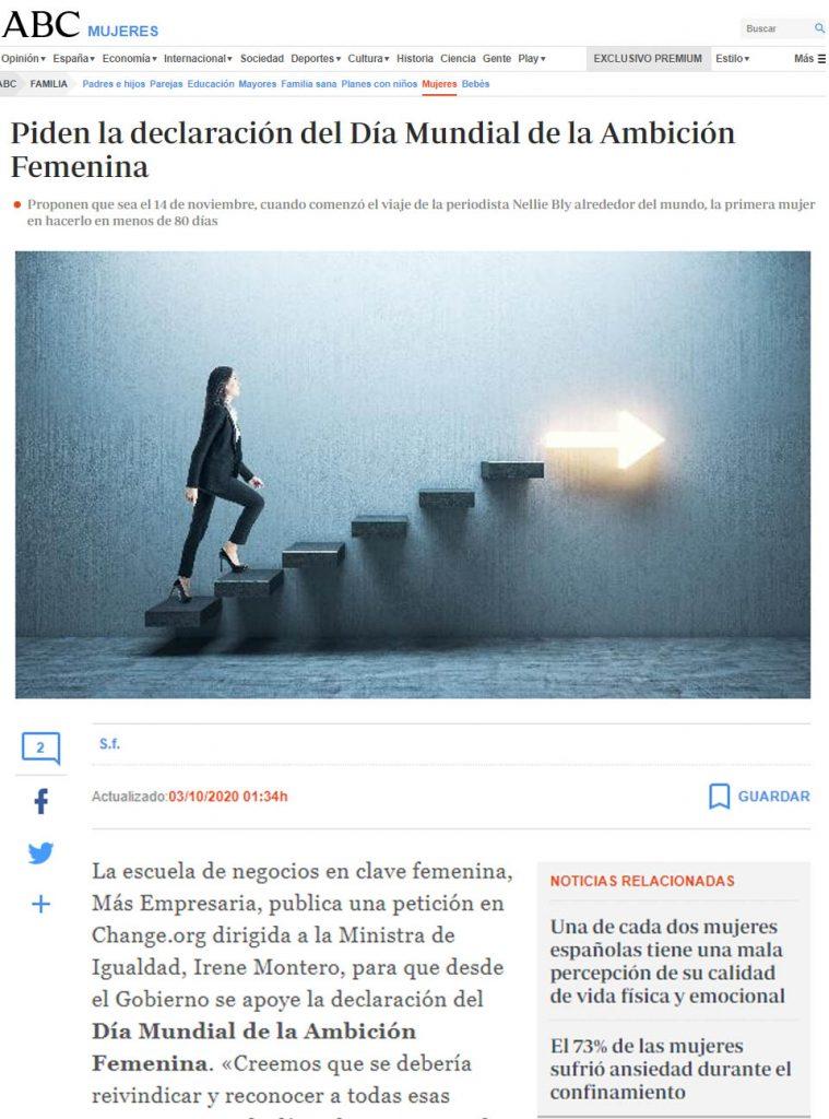 captura-noticia-periódico-Día-Mundial-de-la-ambición-femenina