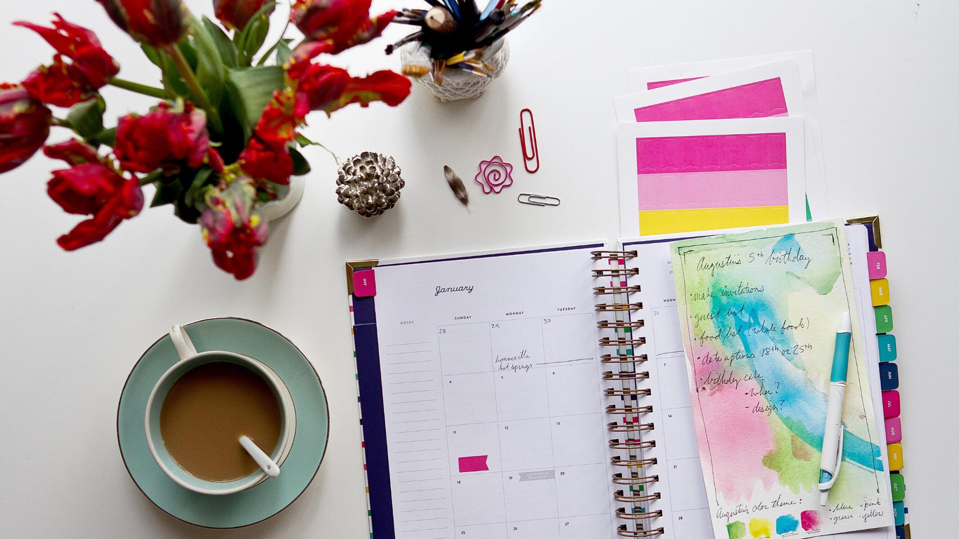 agenda para organizar el trimestre